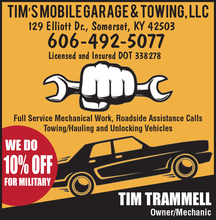 TIMS MOBILE GARAGE AND TO