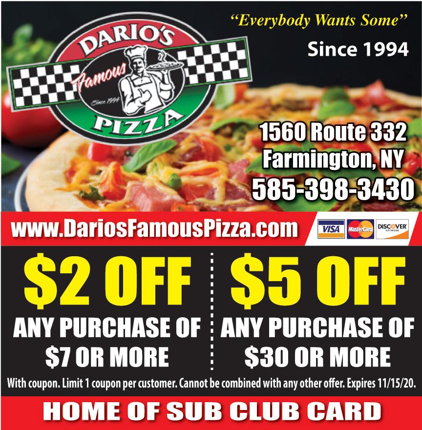 DARIOS FAMOUS PIZZA