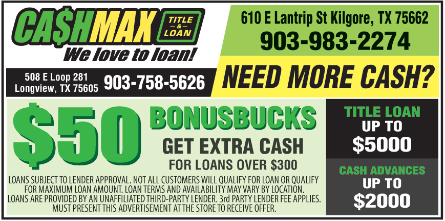 CASHMAX TITLE AND LOAN