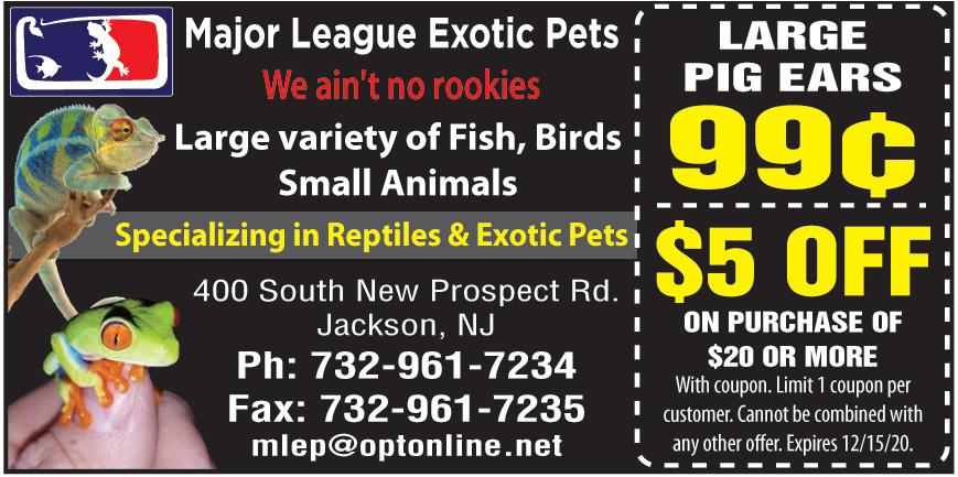 MAJOR LEAGUE EXOTIC PETS