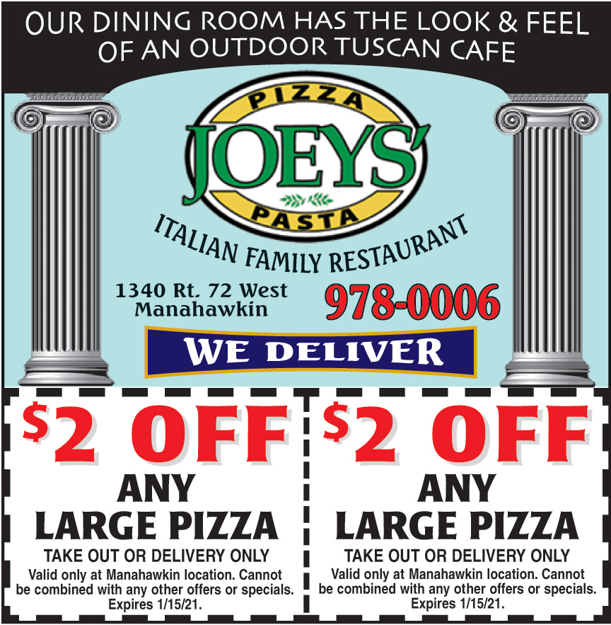 JOEYS PIZZA AND PASTA