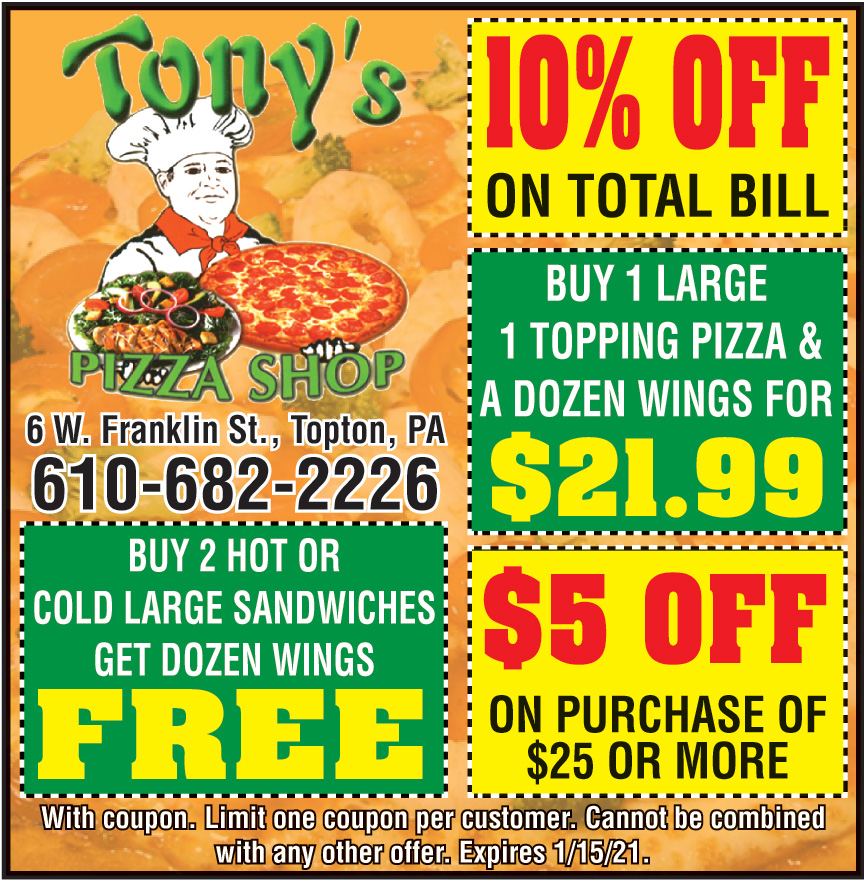 TONYS PIZZA SHOP