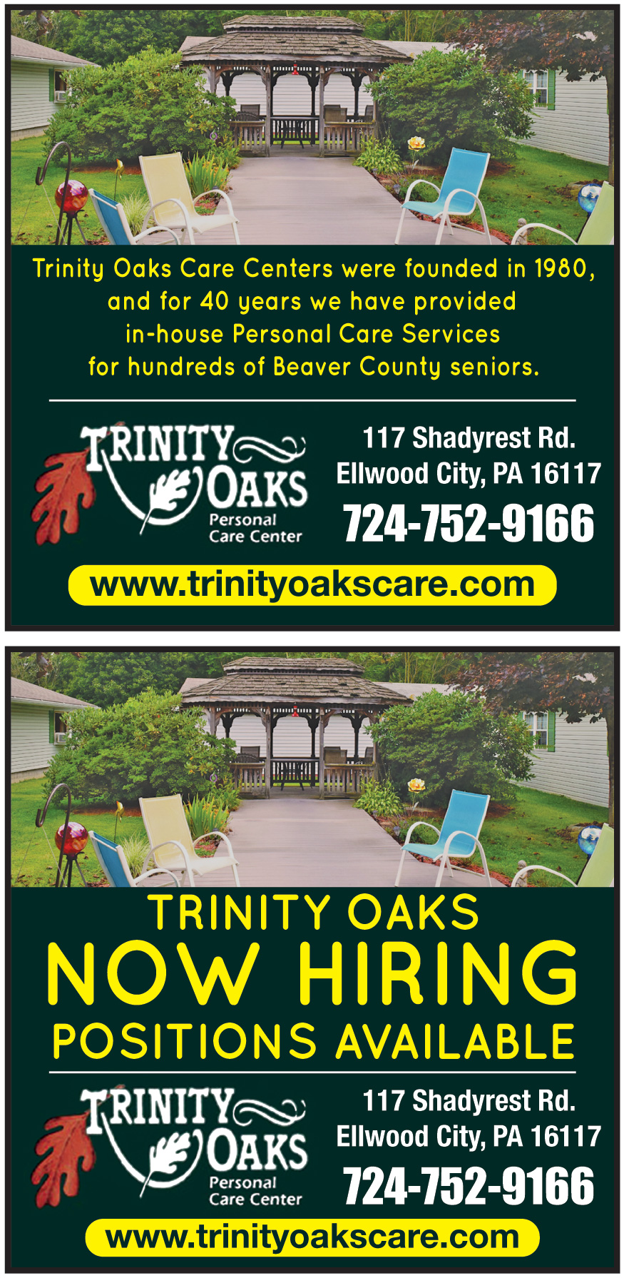 TRINITY OAKS CARE CENTER