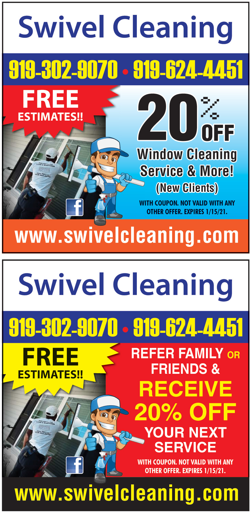 SWIVEL CLEANING