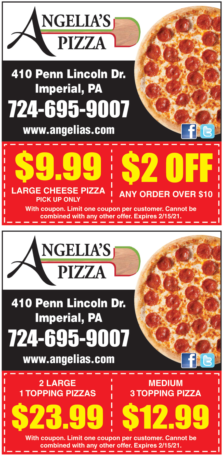 ANGELIAS PIZZA