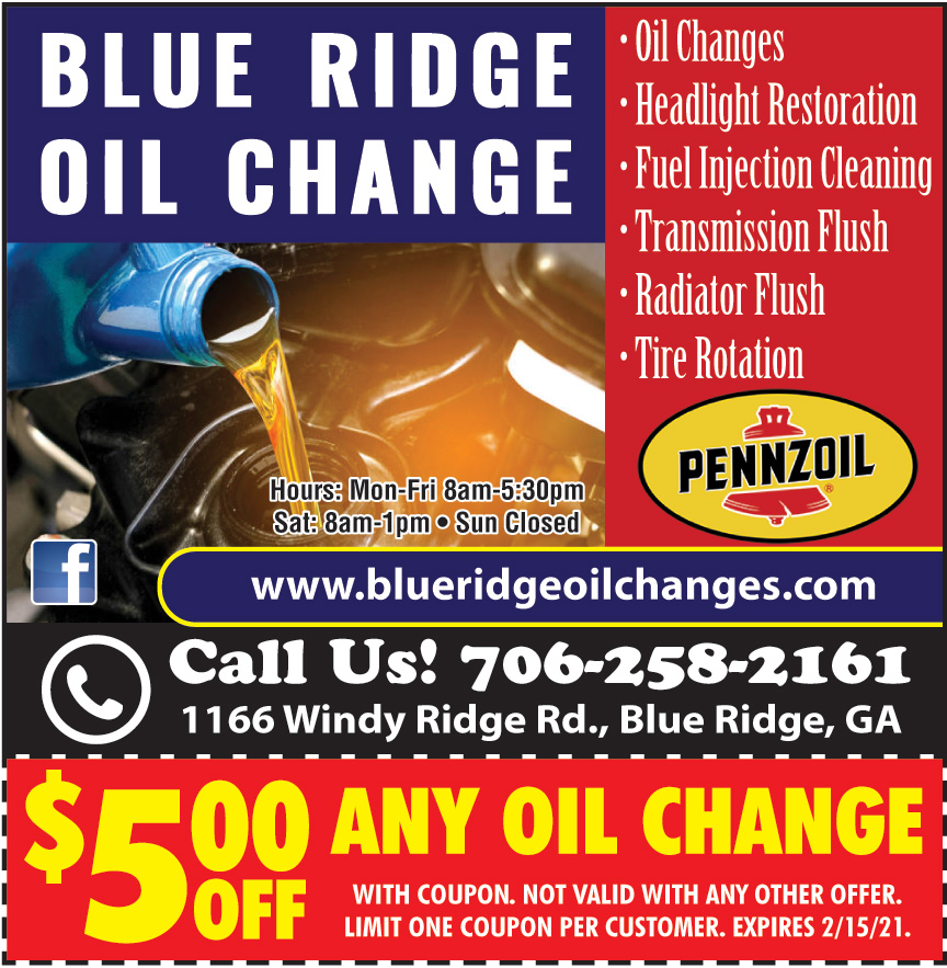 BLUE RIDGE OIL CHANGE