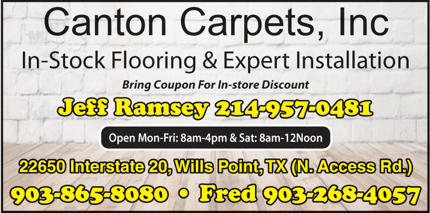 CANTON CARPETS INC