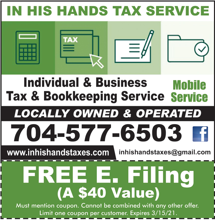 IN HIS HANDS TAX SERVICE