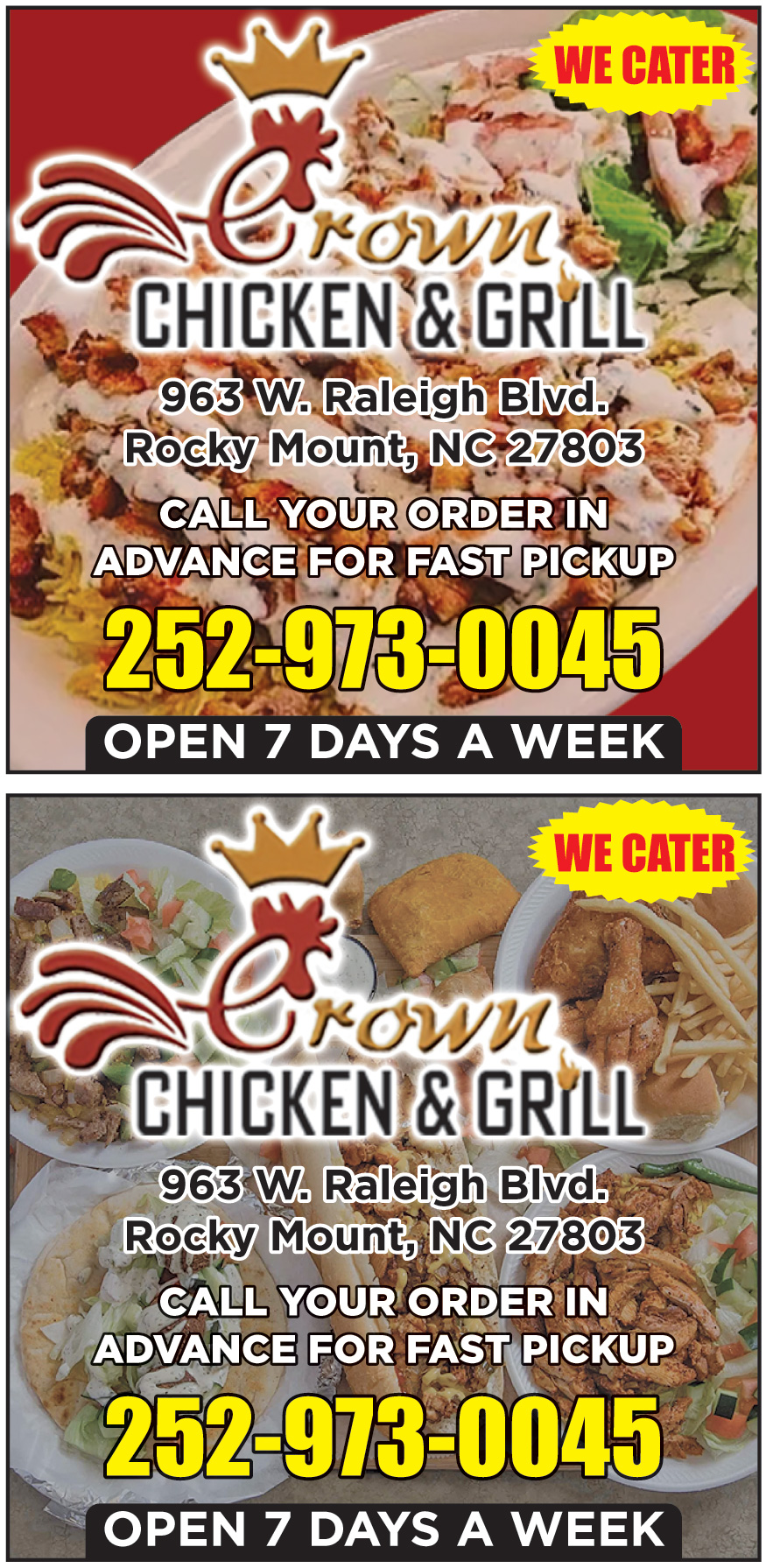 CROWN CHICKEN AND GRILL