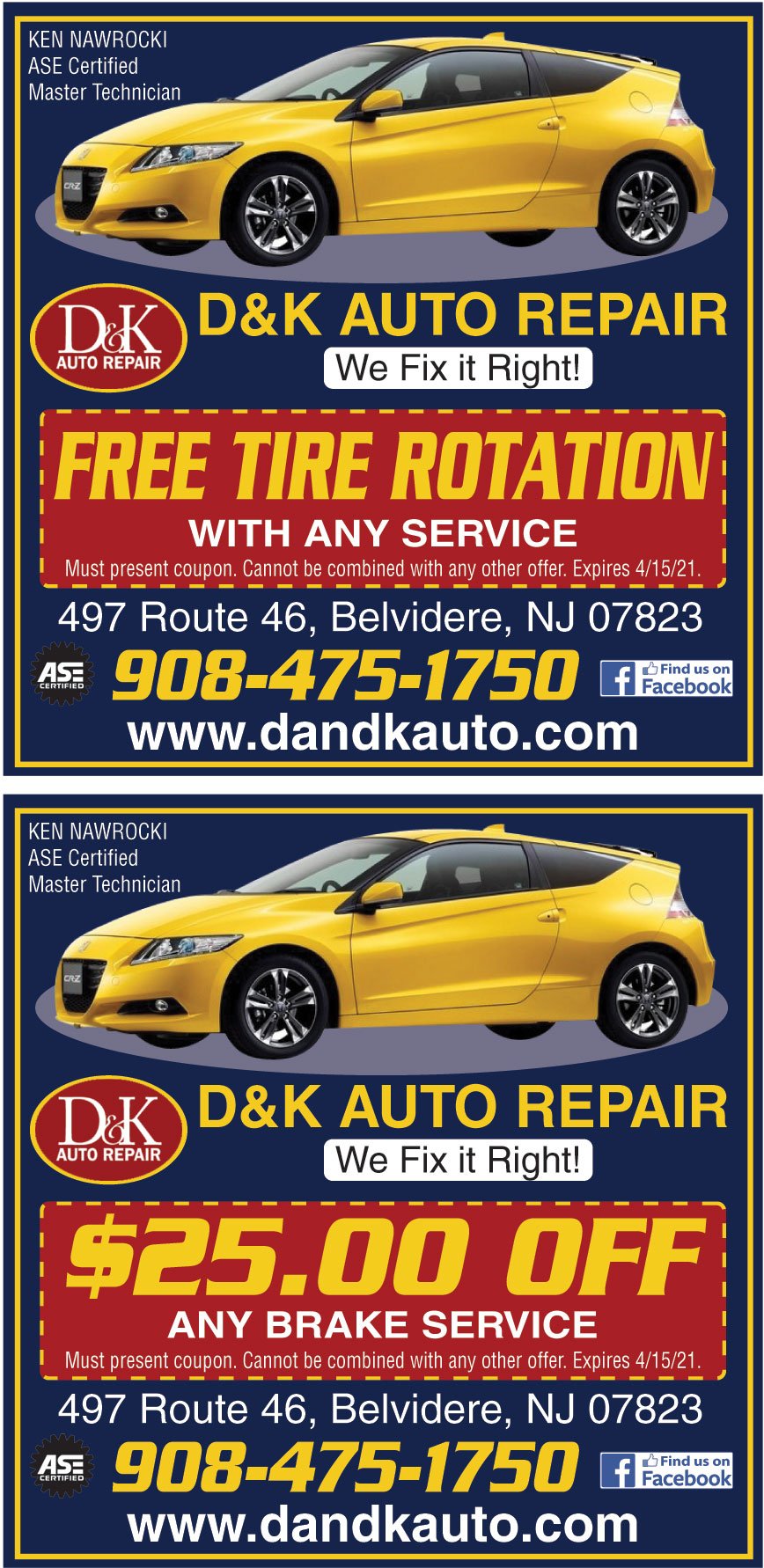 D AND K AUTO REPAIR