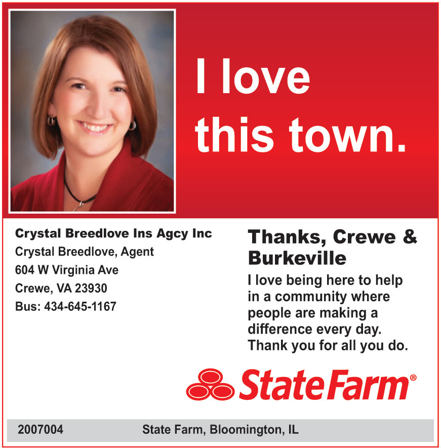 STATE FARM CRYSTAL BREEDL