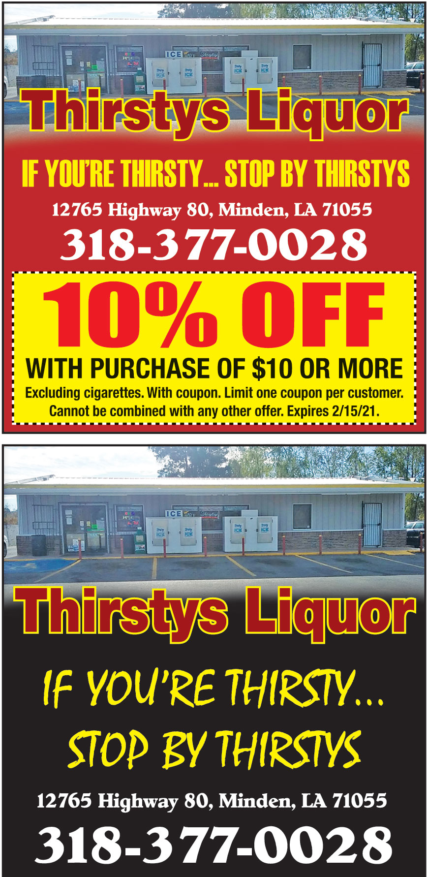 THIRSTYS LIQUOR