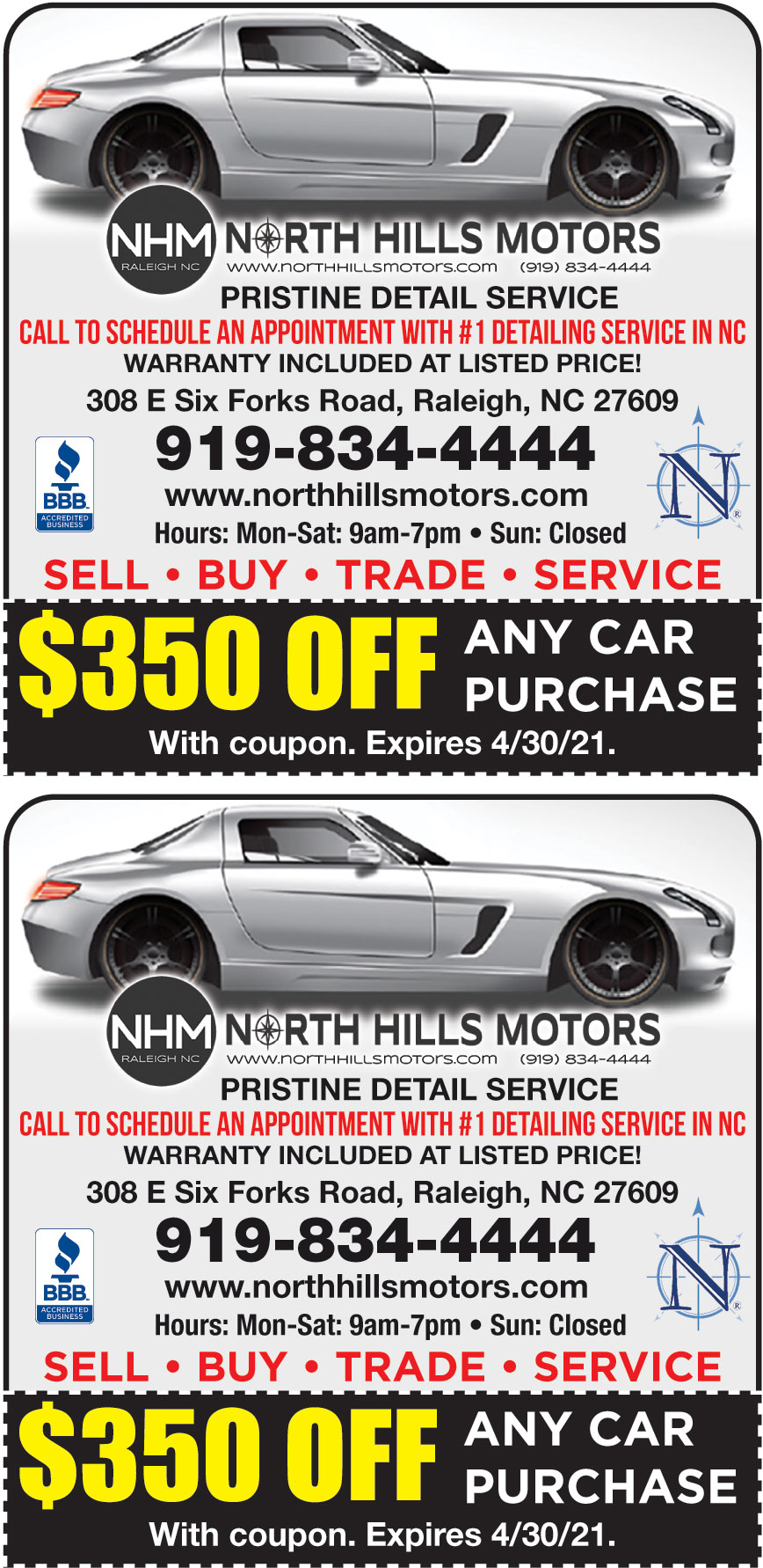 NORTH HILLS MOTORS