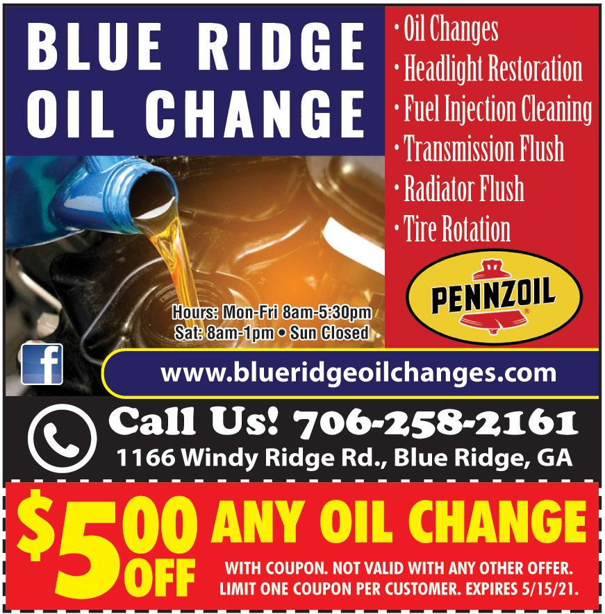 BLUE RIDGE OIL CHANGE