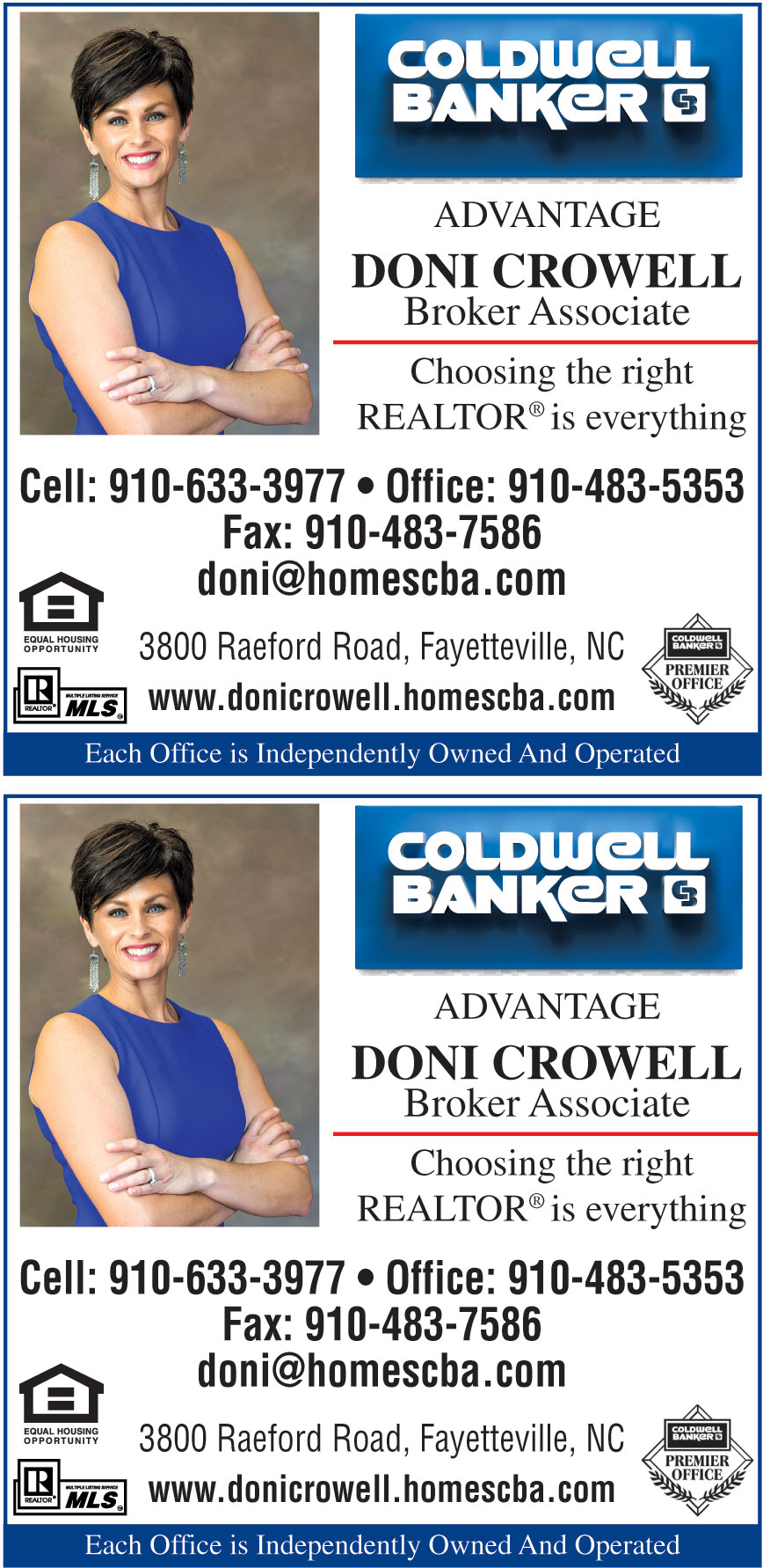 DONI CROWELL COLDWELL BAN