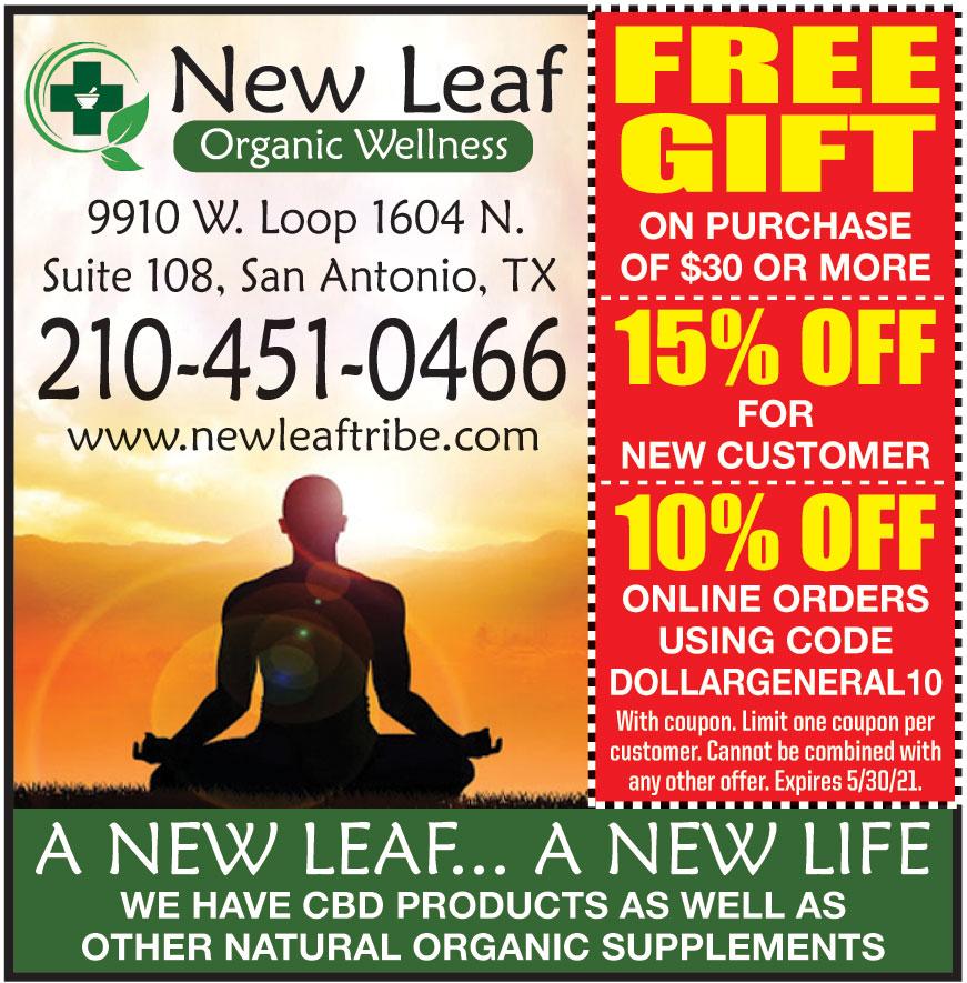 NEW LEAF ORGANIC WELLNESS