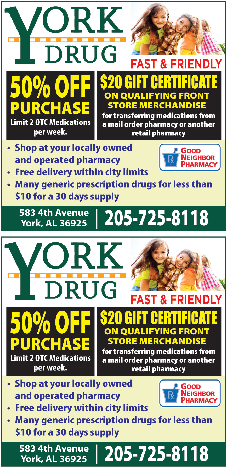 YORK DRUG STORE