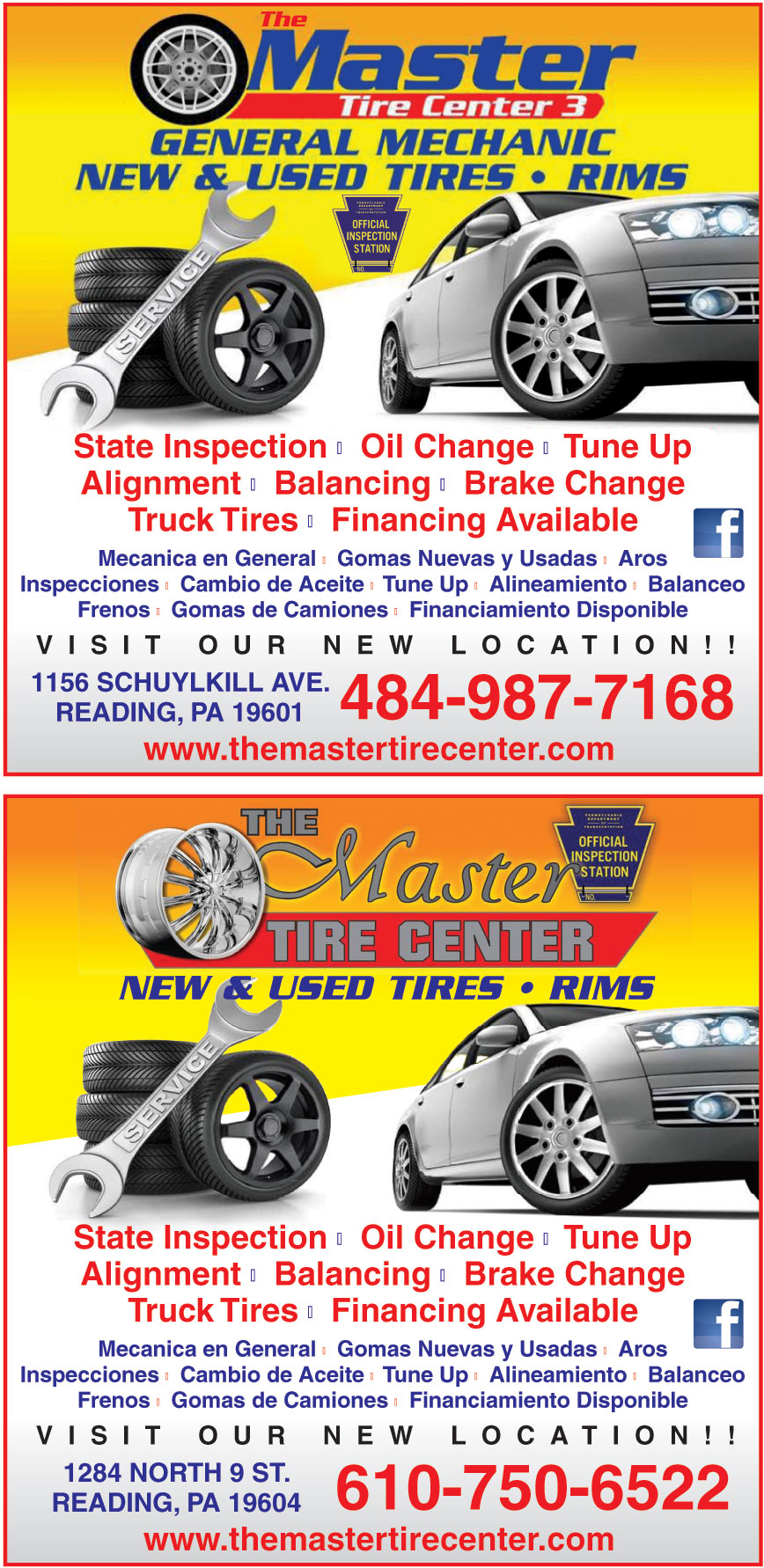 THE MASTER TIRE NO 3