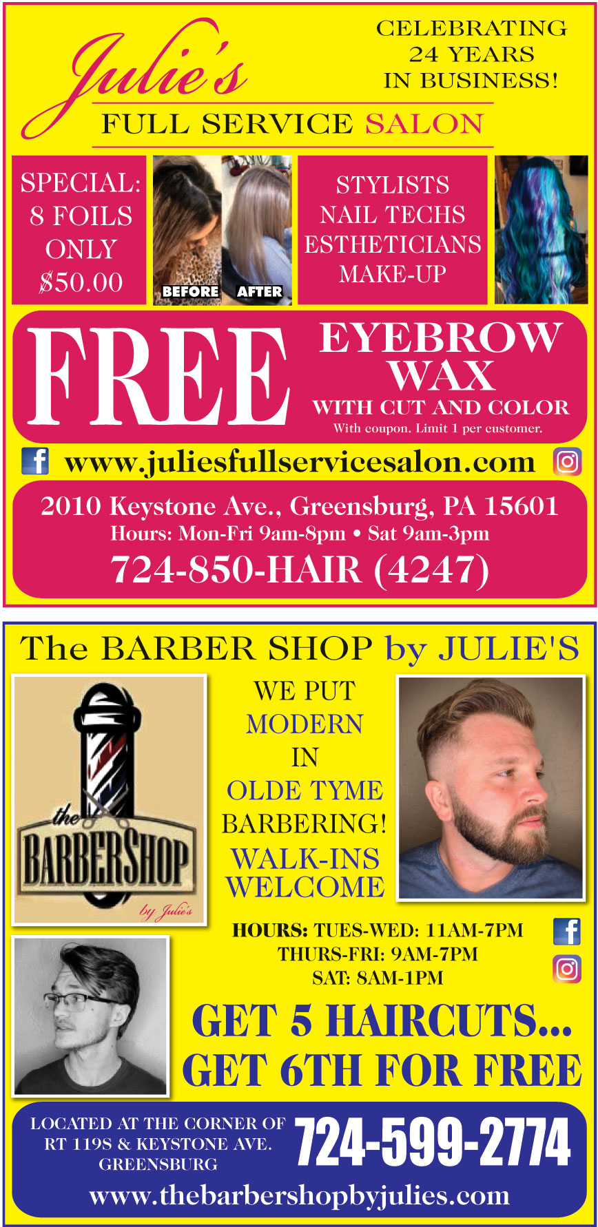 JULIES FULL SERVICE SALON
