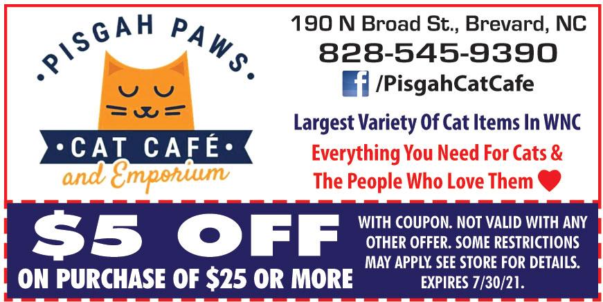 PISGAH PAWS CAT CAFE