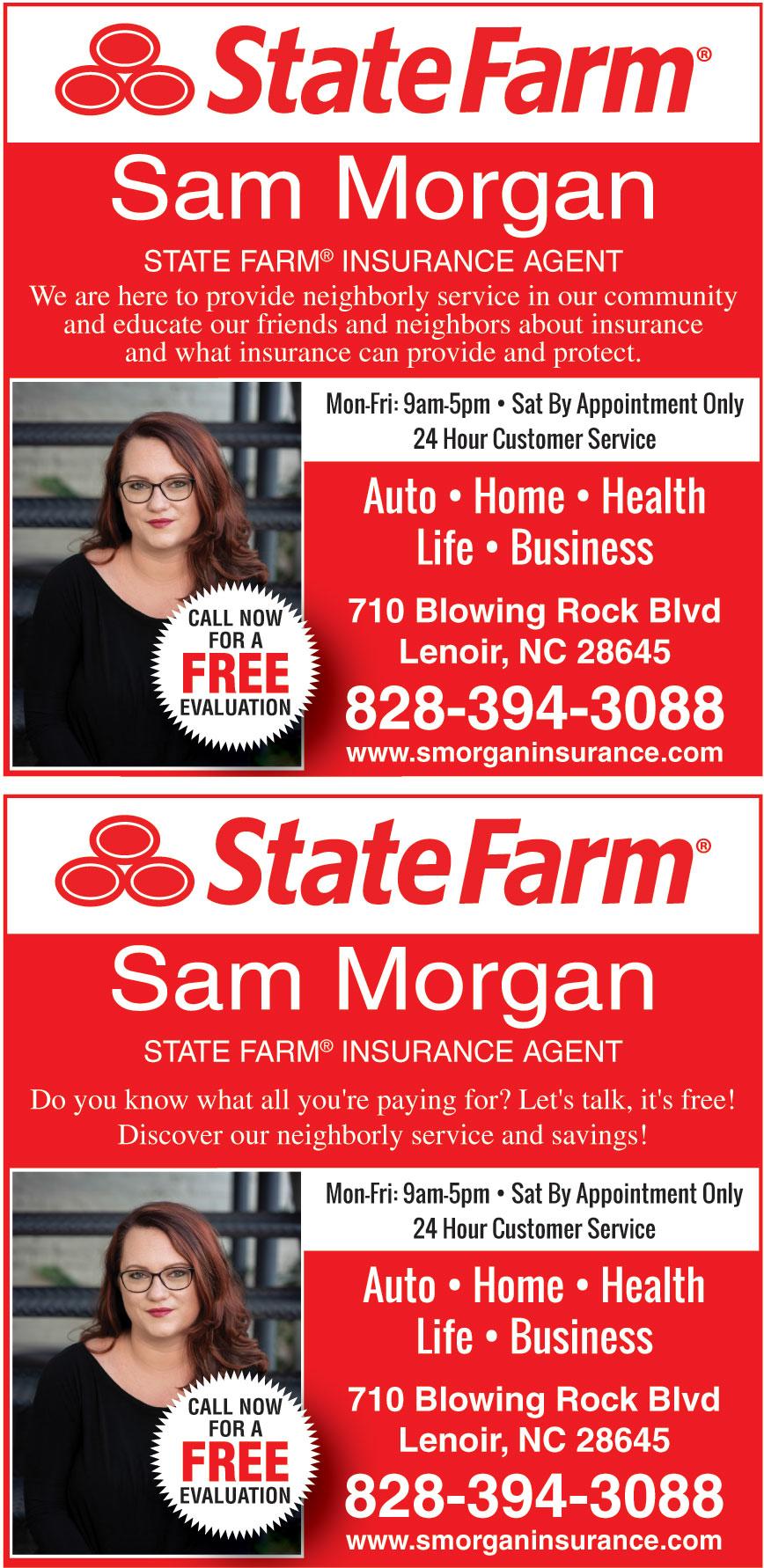 SAM MORGAN STATE FARM