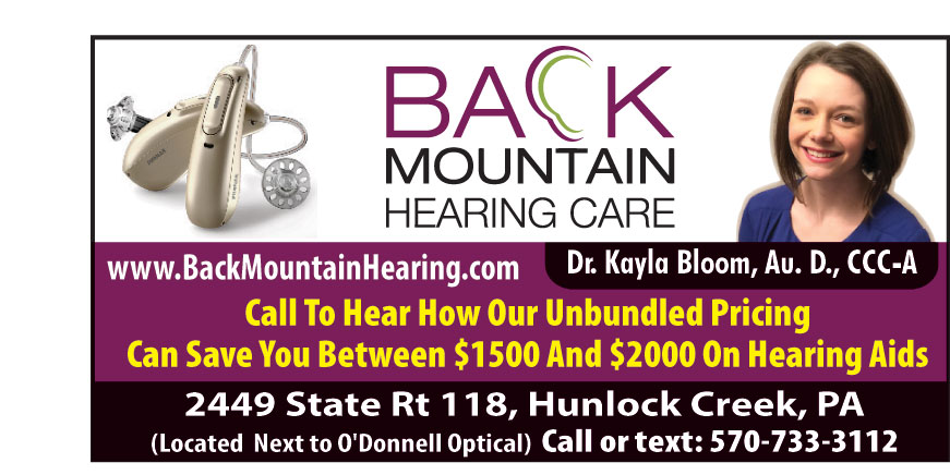 BACK MOUNTAIN HEARING CAR