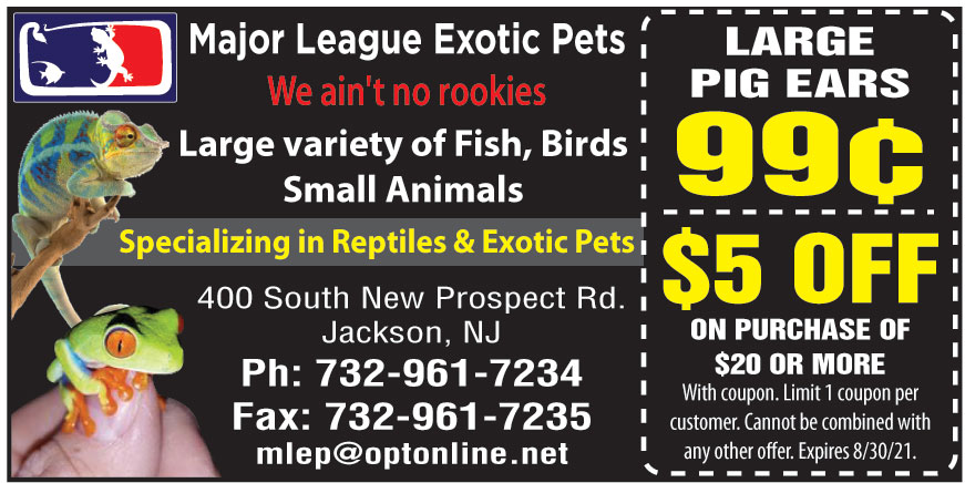 MAJOR LEAGUE EXOTIC PETS