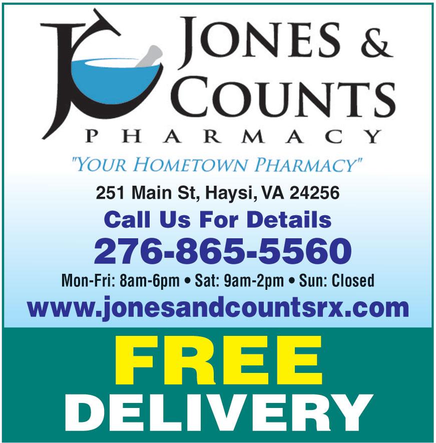 JONES AND COUNTS PHARMACY