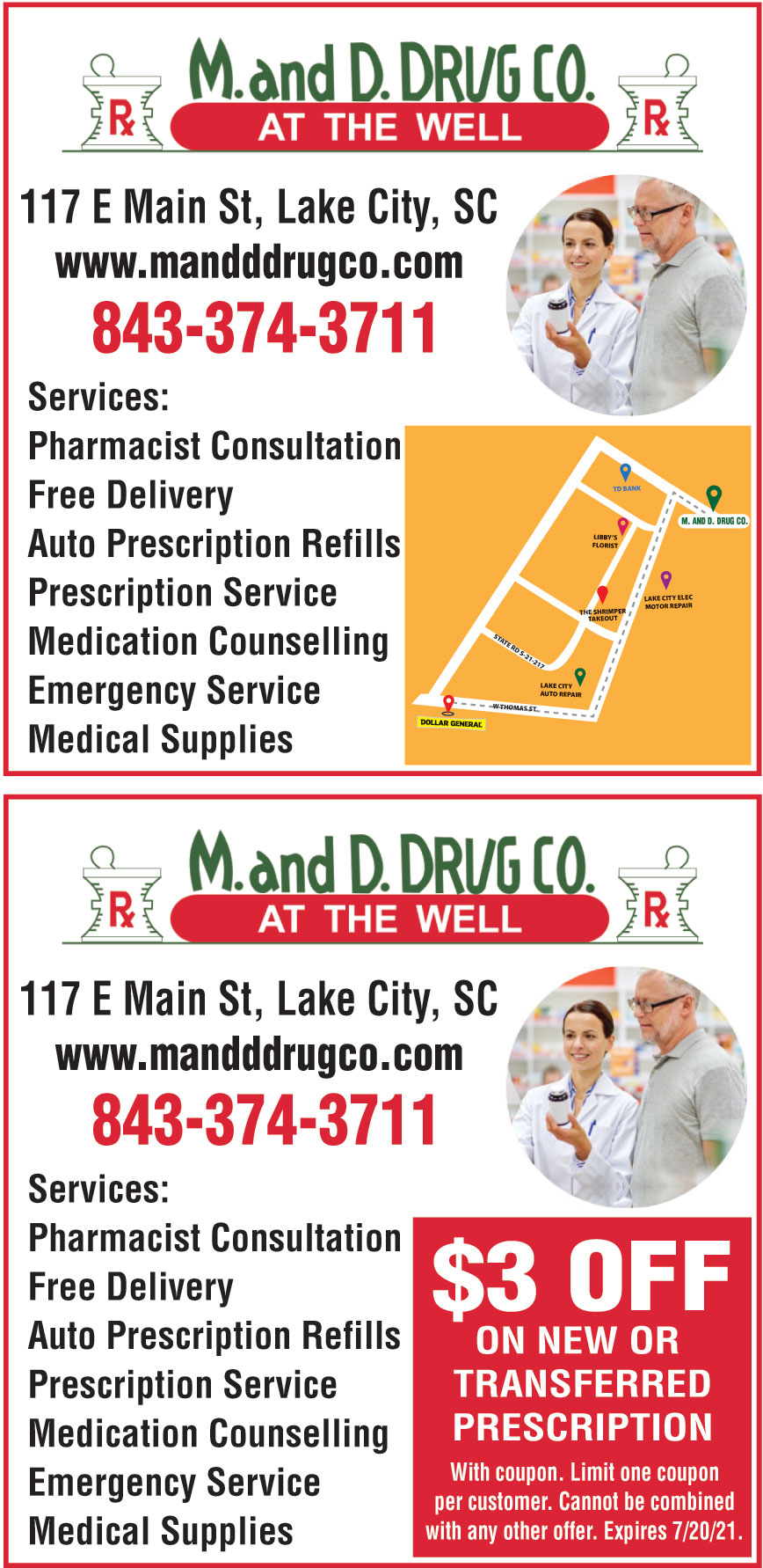 M AND D DRUG CO