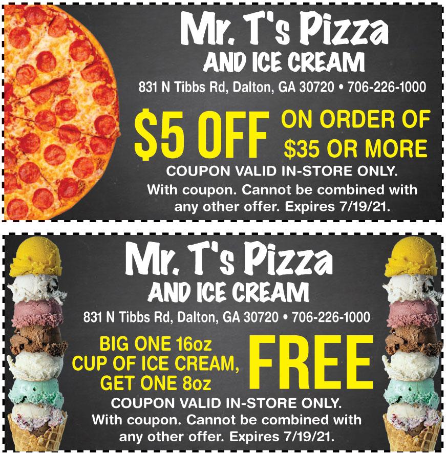 MR TS PIZZA AND ICE CREAM
