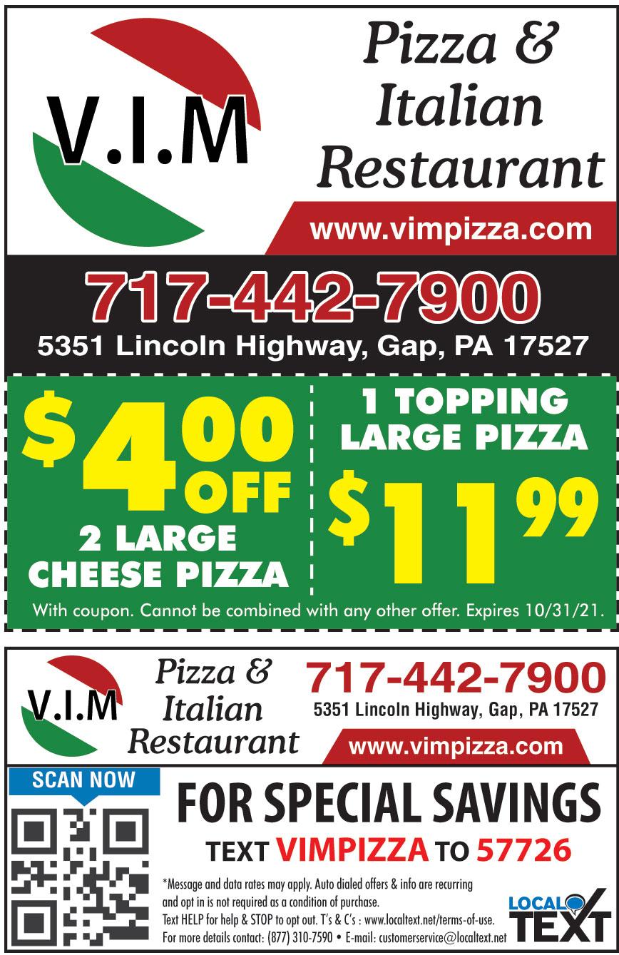 VIM PIZZA AND RESTAURANT