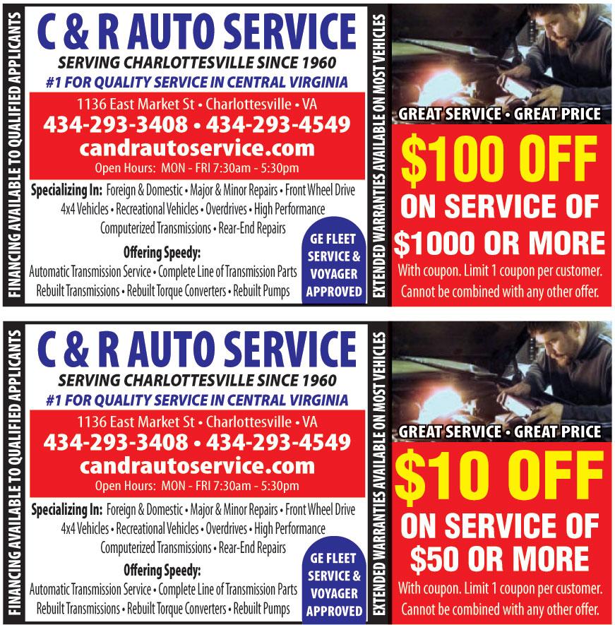 C AND R AUTO SERVICE LLC