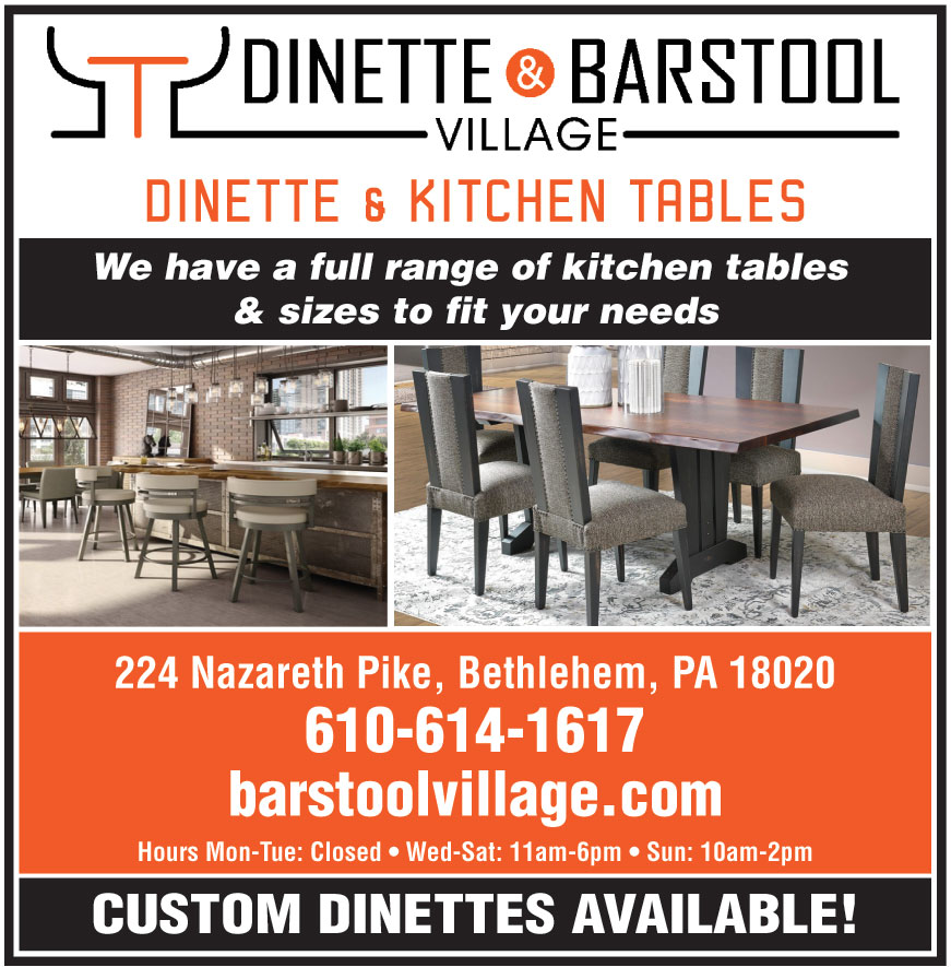 DINETTE AND BARSTOOL VILL