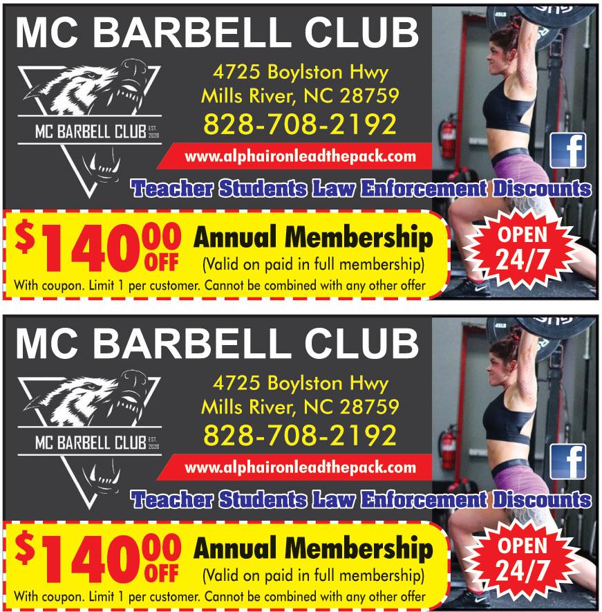MC BARBELL CLUB