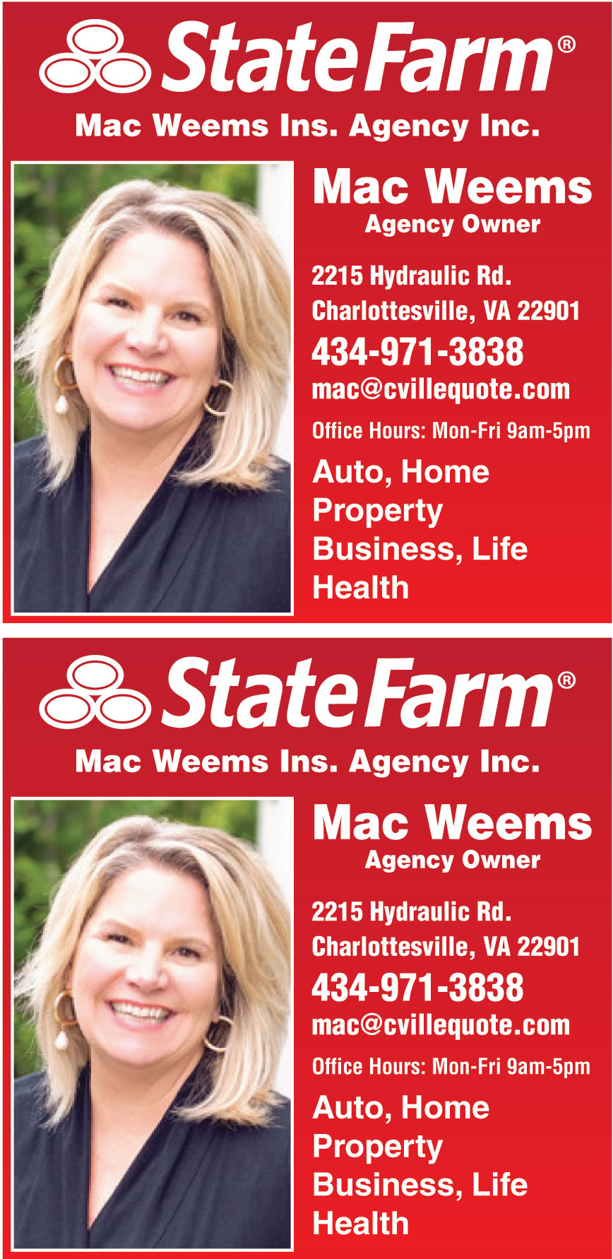 STATE FARM MAC WEEMS