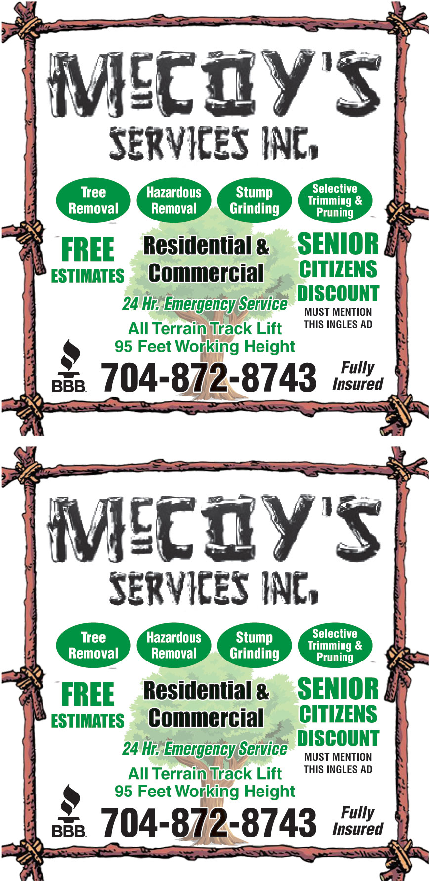 MCCOYS SERVICES INC