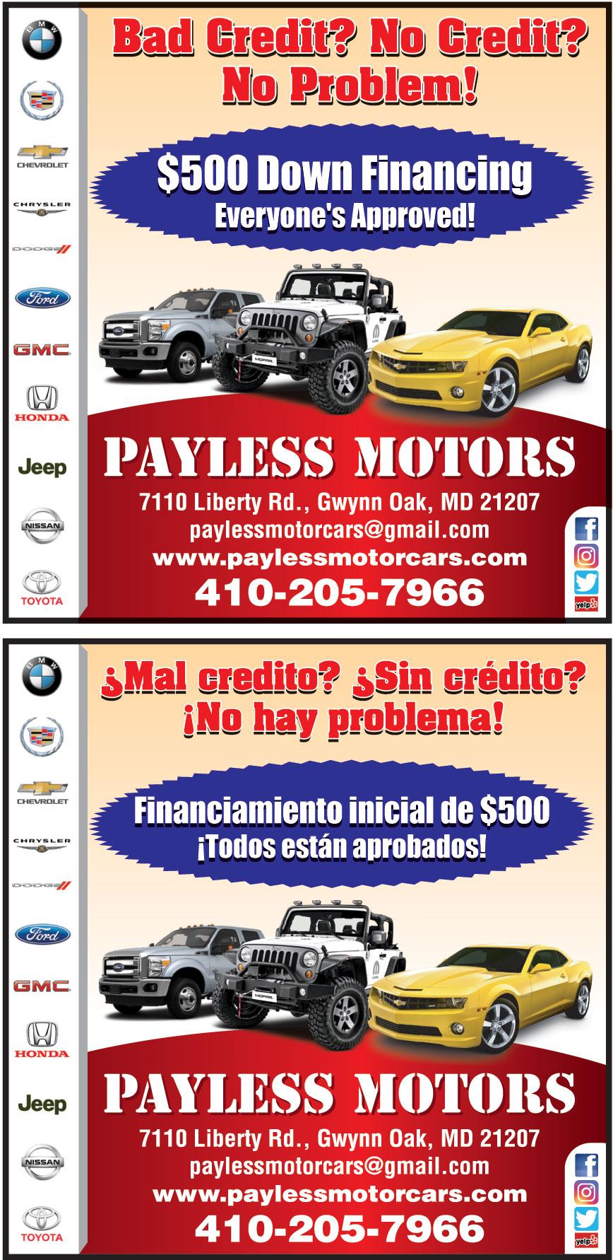 PAYLESS MOTORS