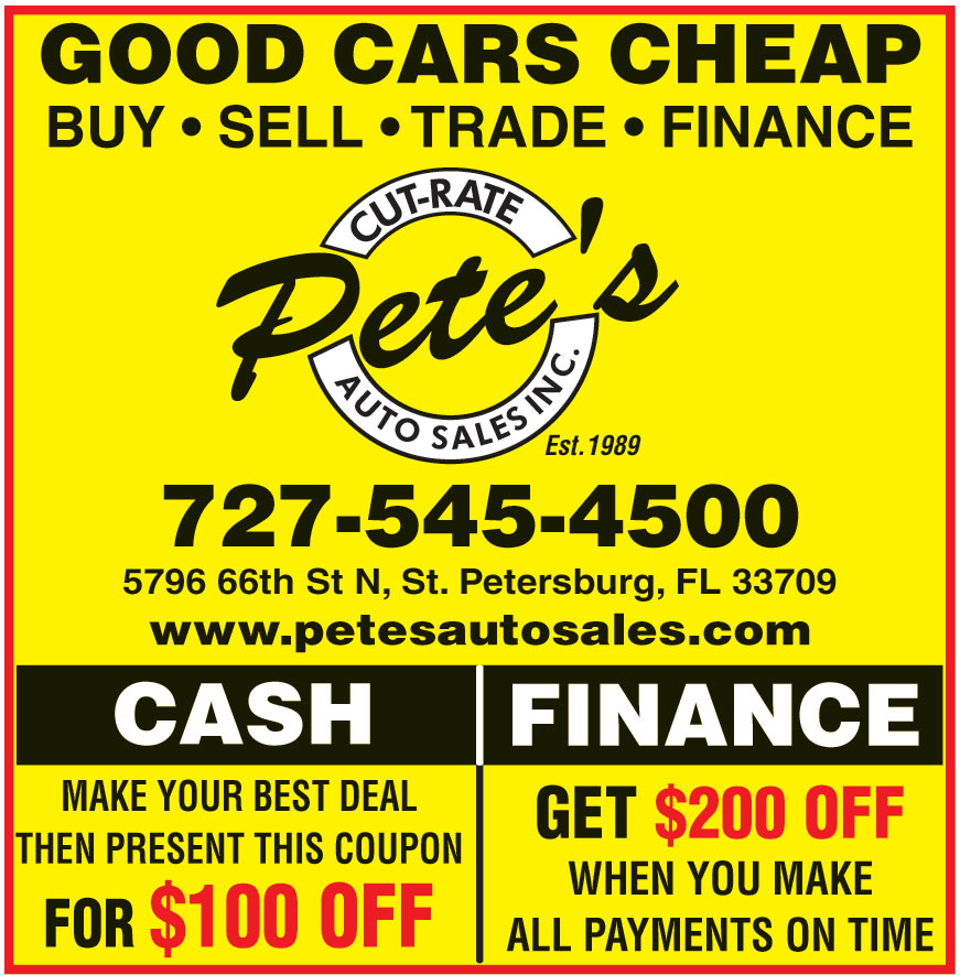 PETES CUT RATE AUTO SALES