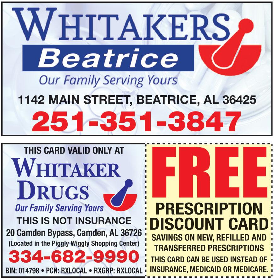WHITAKER DRUGS LLC