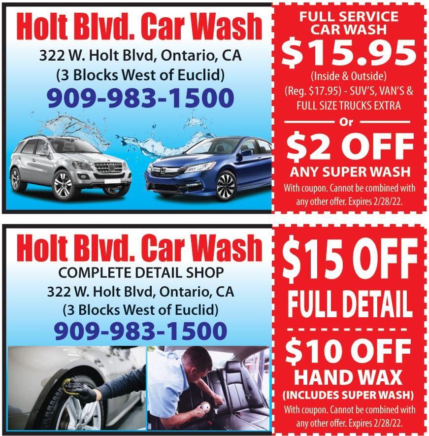 HOLT BOULEVARD CAR WASH