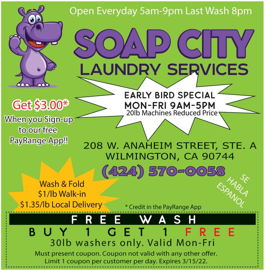 SOAP CITY LAUNDRY SERVICE
